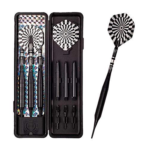 Beimaji Trade 3-teiliges Soft Dart Set Professionelle Sicherheit Elektronische Dartscheibe Zielscheibe für Bar Home Entertainment, Schwarz, 22 g -