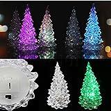 Générique glacial cristal couleur changeant arbre de Noël décoration lampe lumière de Noël nuit pour diverses occasions d'appel d'offres lumière LED, pas trop lumineux pour interférer dormir haute luminosité, faible consommation d'énergie