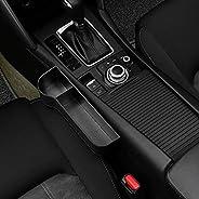 2pcs Black Car Organizer Seat Carriage Bag PU Case Pocket Multifunctional Storage Box Left + right