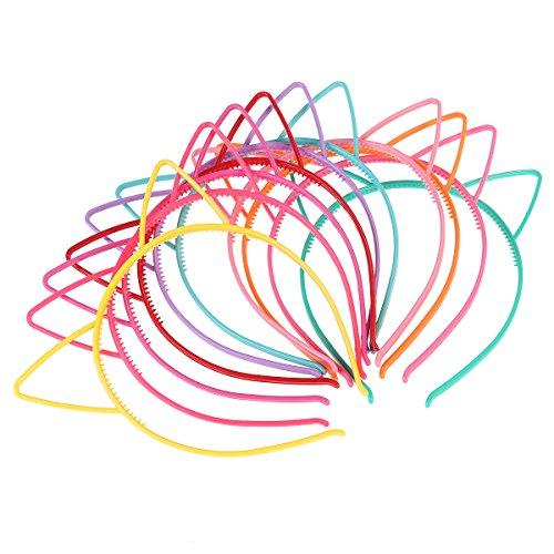 Frcolor 10pcs Katze Ohr Stirnband Plastikkatze Hairband Katze Bogen Hairbands Verfassungs Partei Headwear für Frauen (Für Make Frauen Katze Kostüm Up)