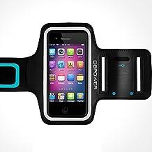 DBPOWER Ajustable Brazalete Deportivo para para iPhone 6 Plus/iPhone 6s Plus/Galaxy S6/Huawei P8/Honor Antideslizante y a Prueba de Sudor Brazalete con Clave Ranura para Correr Gimnasio