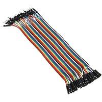 Neuftech® 40pcs 20cm 2,54 mm mâle à femelle Dupont fil Jumper câble pour Arduino Breadboard