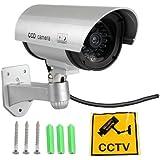 SODIAL(R) Falso Mock maniqui LED CCTV del hogar SPY vigilancia de camaras de seguridad
