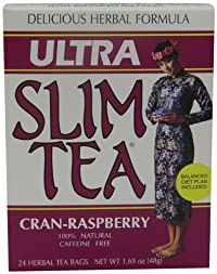 Ultra Slim Tea, Cran-Raspberry, Tea Bags, 24 Count Box
