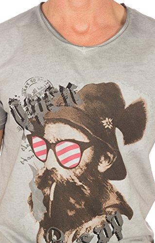 Hangowear Trachtenshirt Beppi Austria Grau, XL - 2