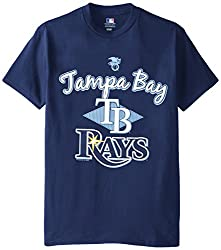 MLB Tampa Bay Rays Men's 58T Tee, Navy, X-Large