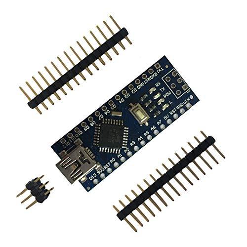 Mini placa de pruebas USB Nano V3.0 ATmega328 5V Micro-controlador Regulador de voltaje de la placa para Arduino-compatible - azul