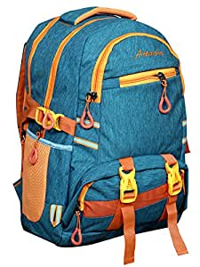 Attache Polyster School Bag (blue) With Rain Cover