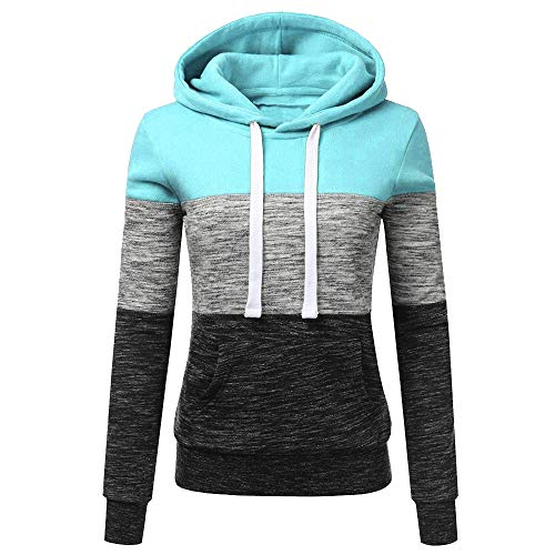 JERFER New Store Big Discount Womens Hoodies Sweatshirt Patchwork Ladies Hoodies Sweatshirt...