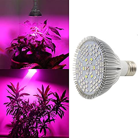 Derlight 15W Full Spectrum LED Plant Grow Light Bulb, E27 Base, Blue & Red With IR + UV, for Indoor Gardening Hydroponics System Greenhouse Flowering Plant Lighting (15W) by Derlight