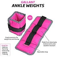 Gallant Ladies Pink Wrist Ankle Weights 2kg = 2 X 1kg, 1kg = 2 X 0.5kg Pair Running Resistance Training Women Straps