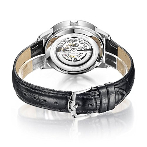 Rotary-Mens-Automatic-Watch-with-White-Dial-Analogue-Display-and-Black-Leather-Strap-GS0065401
