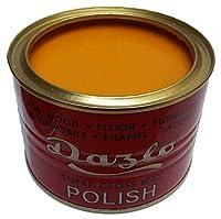 Dazlo® Floor & Furniture Wax Polish - Teak Brown/Orange Yellow Colour (400g)