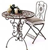 DanDiBo Ambiente Mobili da giardino tavolo rotondo con 2 sedie in metallo mobili Tecla