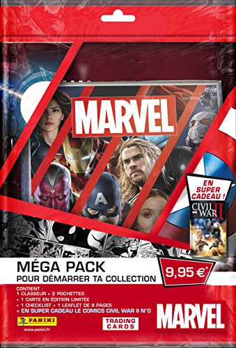 Panini - AS 2230-051 - Starter Pack Marvel Heroes TC - 1 Classeur+ 12 Cartes + 1 Carte Ed.
