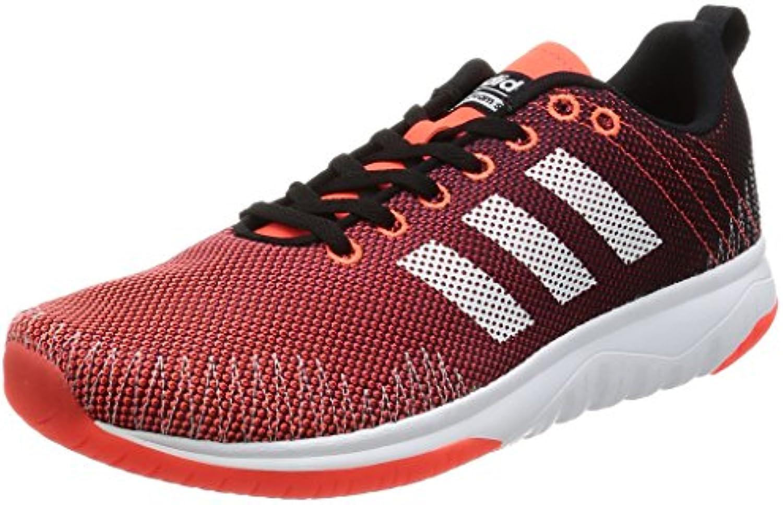 adidas CLOUDFOAM SUPER FLEX - Zapatillas de deporte para Hombre, Negro - (NEGBAS/FTWBLA/ROJSOL) 43 1/3