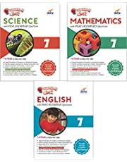 Olympiad Champs Science, Mathematics, English Class 7 with Past Questions (Set of 3 Books)