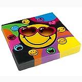 NET TOYS Smiley Servietten Papierservietten 20 Stk. Kinderparty Motivservietten Emoji