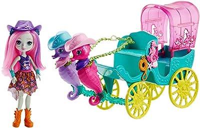 Enchantimals FKV61 Sandella Seahorse, Friends and Western-Styled Coach Doll & Playset