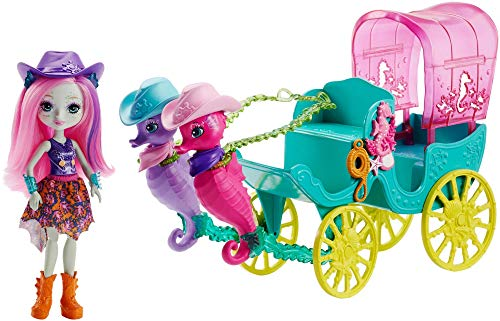 Enchantimals - Carroza de muñecas Caballito de Mar, Multicolor (Mattel FKV61)