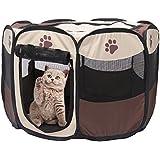 Parque de juego portátil plegable para mascotas Yusenpet de 700mm y 900mm Kennel de ejercicio para uso interior o exterior de tela Oxford 600D para perro gato, conejo, cachorro