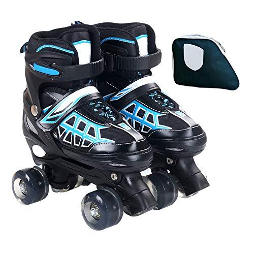 APENCHREN Rollschuhe für Erwachsene und Kinder/Quad Rollschuhe, hochwertiges PU-Rad - für Sport im Freien, (Unisex),Blue-set1-L(38-42) (Rollschuhe Outdoor Damen)