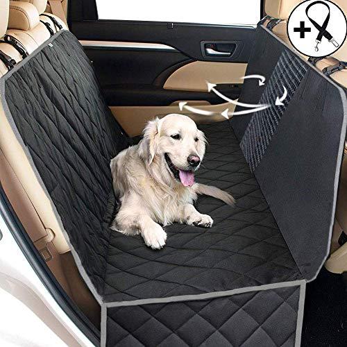 Big Ant Hundedecke Auto Autoschondecke Hund Rücksitz - Hundedecke für die Auto Rückbank wasserdicht - Schutz Autodecke für Hunde mit Seitenschutz zum Hundetransport - Decke Lüftungsschlitze