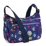 ABLE Waterproof Shoulder Bag Casual Handbag Messenger Crossbody Bags (2-multicolor)