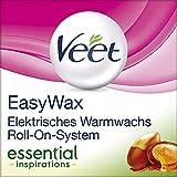 Veet EasyWax essential inspirations, elektrisches Warmwachs Roll-On-System für alle Hauttypen inkl. Nachfüll-Patrone, 1er Pack (1 x 1 Stück)