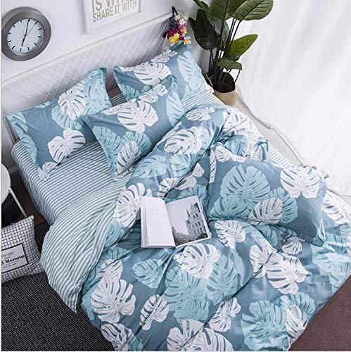SHJIA Bettwäsche Set Unterwäsche Bettdecken Bettbezüge Doppel Erwachsene Bettlaken Set Rosa Tagesdecke Königin König Bettwäsche Set Blau 200X230Cm