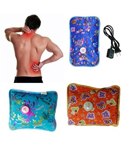 Electric Rechargeable Heating Pad for Full Body Pain Relief (Multicolor / Design, 24 cm x 18 cm x 6 cm)(No Gel Inside)
