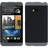 Atdoshop(TM) Tri-color Double Dip Genuine Plastic Shell Case For HTC ONE M7 (Black)