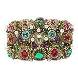 Sac perlé Banquet Femmes,d'or Handmade Paillettes métalliques Perceuse Flash Embrayage pour Et d'autres Jours fériés Bridal-A 20x12x6cm(8x5x2inch)