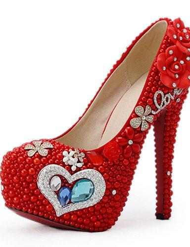 WSS 2016 Chaussures de mariage-Rouge-Mariage / Habillé / Soirée & Evénement-Talons-Talons-Homme 5in & over-us7.5 / eu38 / uk5.5 / cn38