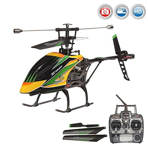 *4.5 Kanal RC ferngesteuerter XL Single-Blade HD-KAMERA Hubschrauber, für Indoor und Outdoor, Helikopter mit 2,4GHz, RTF Komplett-Set inkl. LiPo-Akku, Kamera-Set und Ersatzteile*