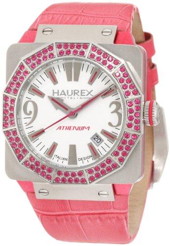 Haurex Italy 8S372DWP - Reloj analógico de cuarzo para mujer con correa de piel, color rosa