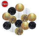 Tissue Paper Pom Poms,YING Hanging Paper Honeycomb Balls Flower Ball for Birthday Baby Shower Wedding Festival Decorations