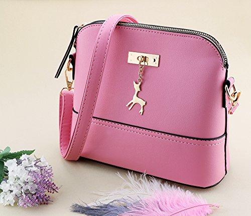 77c8b01eda74e ... Kleine Umhängetaschen Leder Damen Günstige Handtaschen Schule Elegant  Shopper Rosa