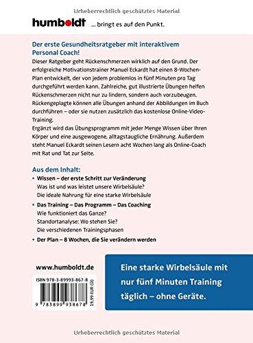 Das 5-Minuten-Rückentraining: In 8 Wochen stark und schmerzfrei. Give me five! Inkl. Video-Coaching mit Gesundheitstrainer Manuel Eckardt