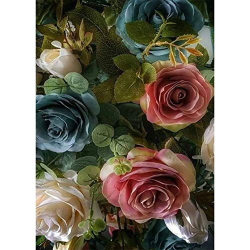 Sunnay Diamond Art,Blume Neu,5D Diamant Painting Set Kaufen Full Stickerei Groß 3D Bilder DIY Diamonds Shop,30 x 40 cm