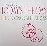 White Cotton Cards Woohoo Today S The Day Grand Neon Félicitations, Range Carte de vœux de Mariage Faite Main