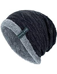 Sombreros Unisex Invierno, ❤️ Zolimx Unisex Gorro de Punto de Cobertura Sombrero de Cabeza Gorras Mujer Beisbol Caliente al Aire Libre Sombrero de Moda