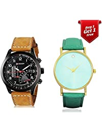 Talgo Curren Collection Festive Season Special Black Round Dial Brown Leather Strap Party Wedding | Casual Watch | Formal Watch | Fashion Wrist Watch For Boys and Men - Curren M-8152 | Buy 1 Get 1 Single Diamond Watch for Women absolutely Free | Jumbo Offer