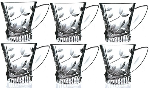 RCR Laurus Crystal Glass Tea / Coffee Cups Set Of 6 Test