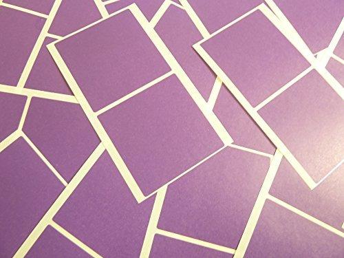 Grande 51mm Cuadrado Púrpura Oscuro Violeta Código De Color Adhesivos, 50 auta-Adhesivo Cuadrados adhesivo Etiquetas De Colores