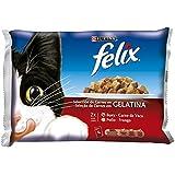 Felix Comida Húmeda para Gato, Selección de Carnes en gelatina - 400 g