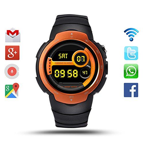 Smart Watch Android 51 MTK6580 Support 3G Wifi Bluetooth GPS SIM Card 2MP Camera IP67 Waterproof Sport Watch For Men