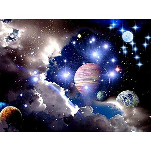 Mosstars 40x30cm Home Sweet Home EmbroideRot 5d DIY Diamond Painting Full Square Diamond Malerei Cross Stitch Rhinestone Mosaic Decor Gift 5D DIY Diamant Malerei (Mehrfarbig)