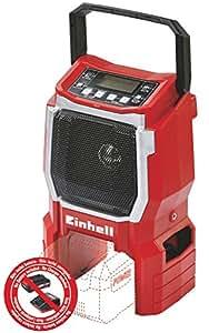 Einhell Radio sans fil sur batterie TE-CR 18 LI Solo - Power X-Change (18V, Fréquence FM 87,5 à 108 MHz - Fréquence  AM 522 à1620 KHz, Livré avec câble pour téléphone portable, lecteur MP3) – VERSION SOLO, LIVRE SANS BATTERIE NI CHARGEUR