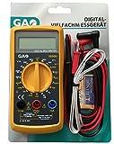 Multimetro digitale multiplo, dispositivo di misurazione, misurazione di tensione, corrente, resistenza, nero/giallo